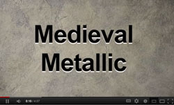 Watch our new Medival Metallic Video on YouTube!