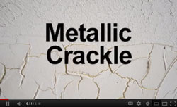 Watch our new Metallic Crackle Video on YouTube!